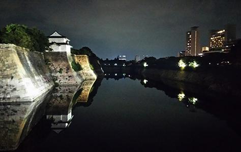 MIRAIZA OSAKA-JO at night